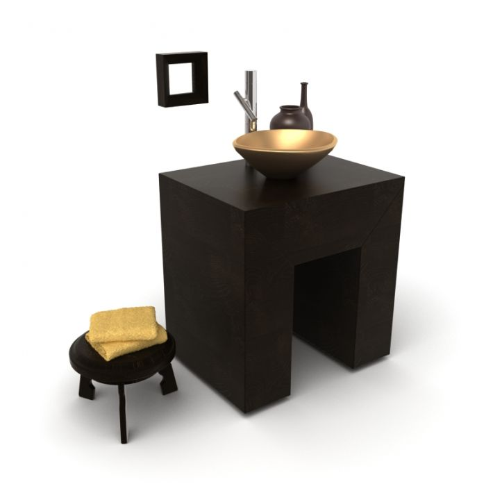 bathroom furniture set 23 AM56 Archmodels