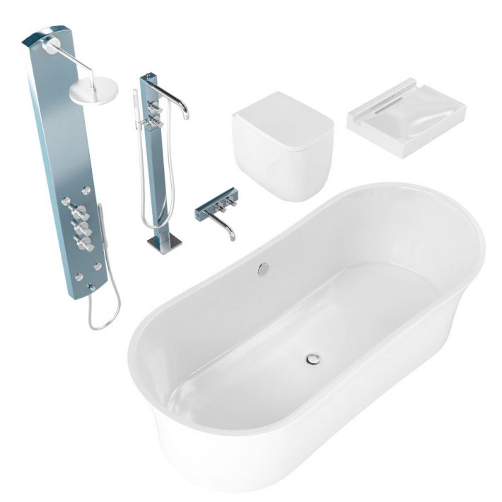 bathroom fixtures 9 AM127 Archmodels
