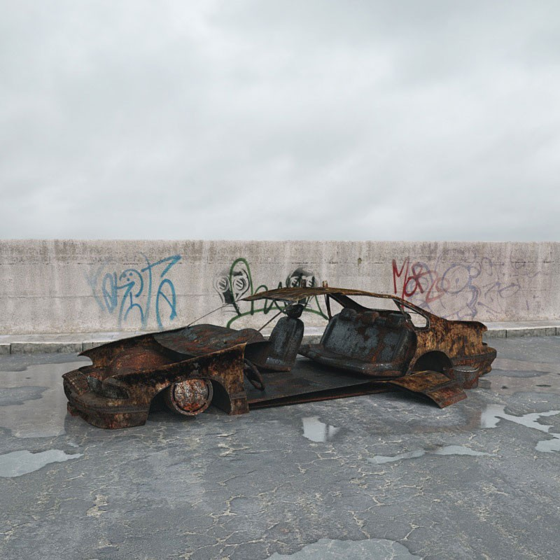 destroyed car 3 AM165 Archmodels