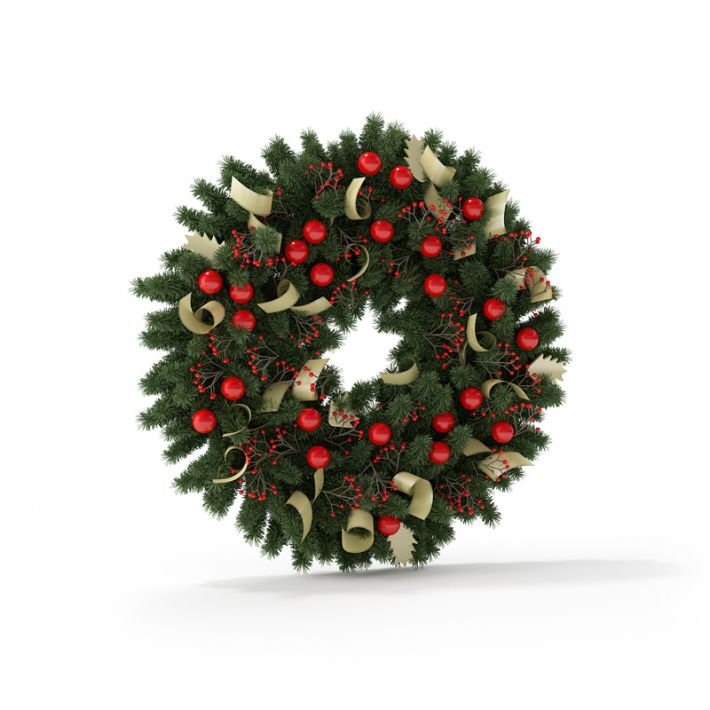 Christmas wreath 10 AM88 Archmodels