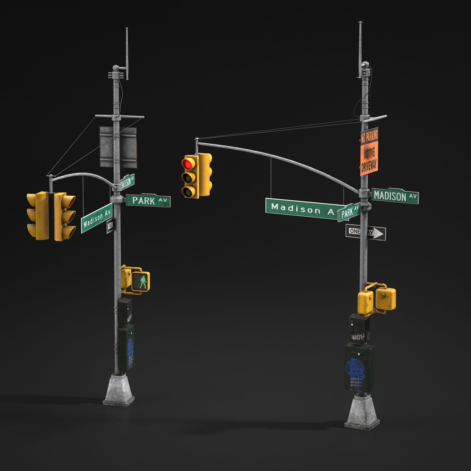 traffic lights 8 AM211 Archmodels