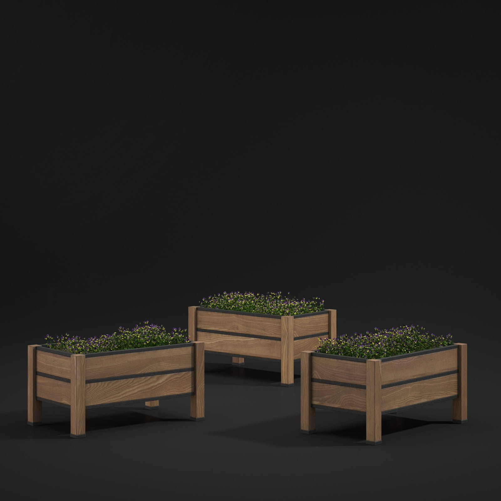 flowerbed boxes 33 AM211 Archmodels