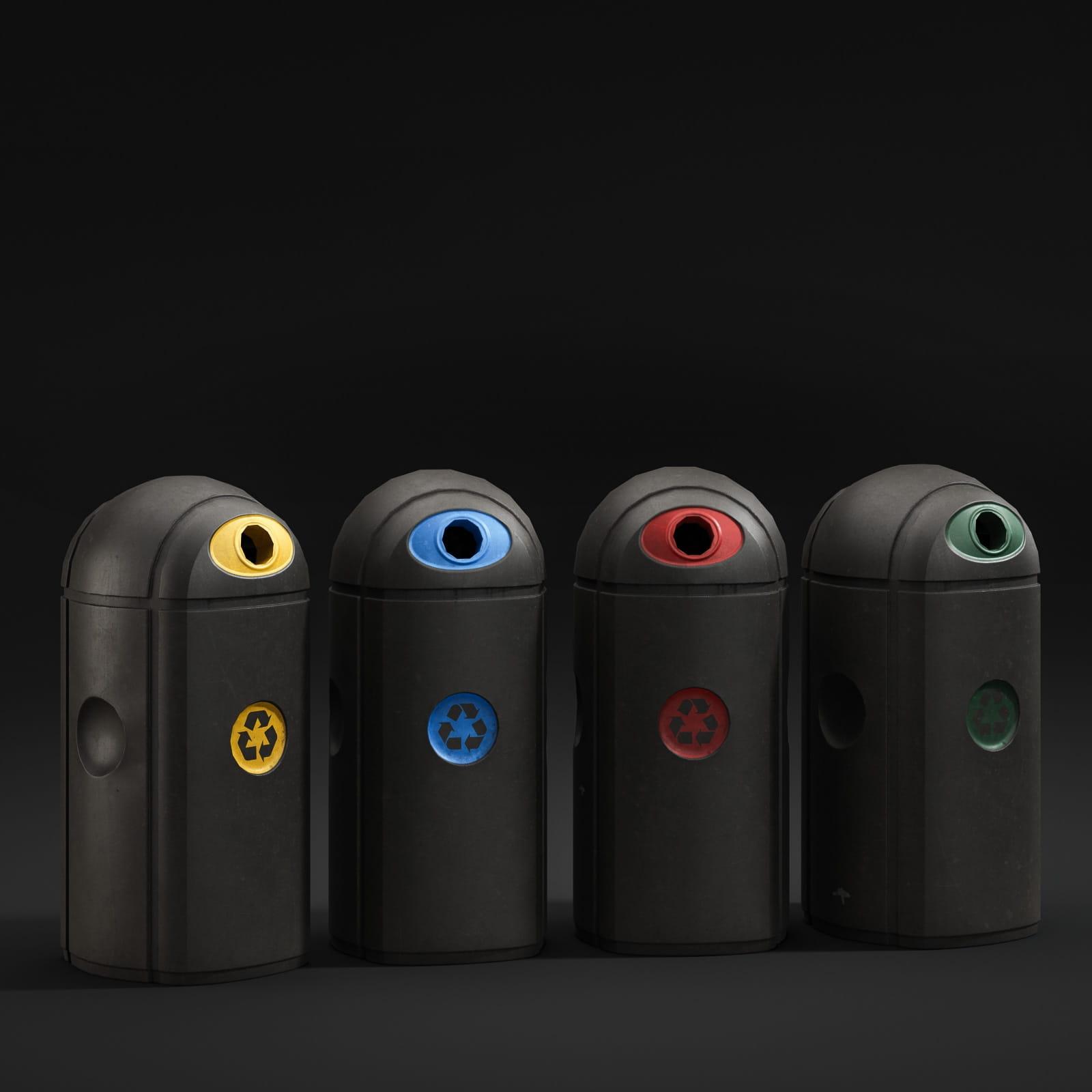 trash cans 37 AM211 Archmodels