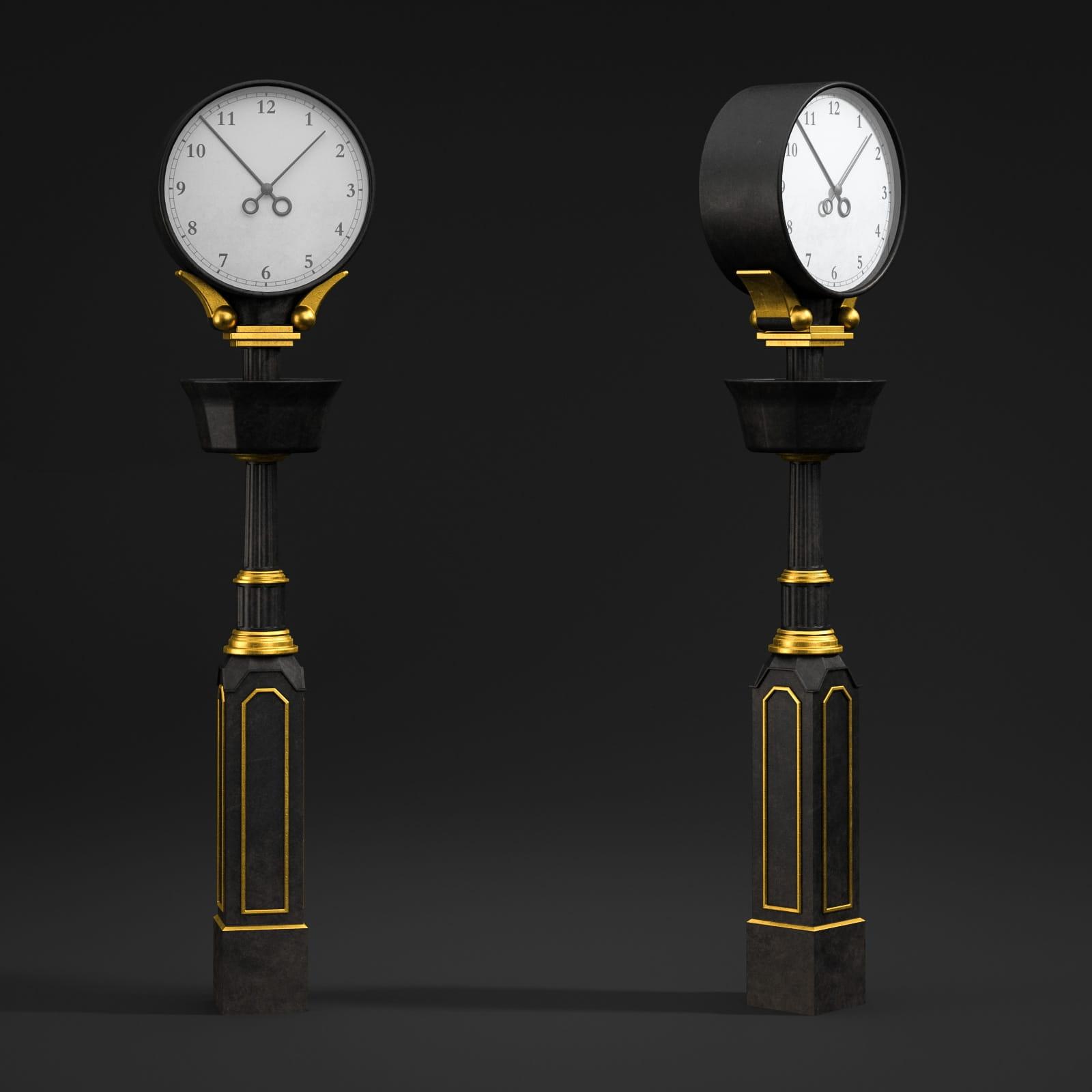 street clock 40 AM211 Archmodels