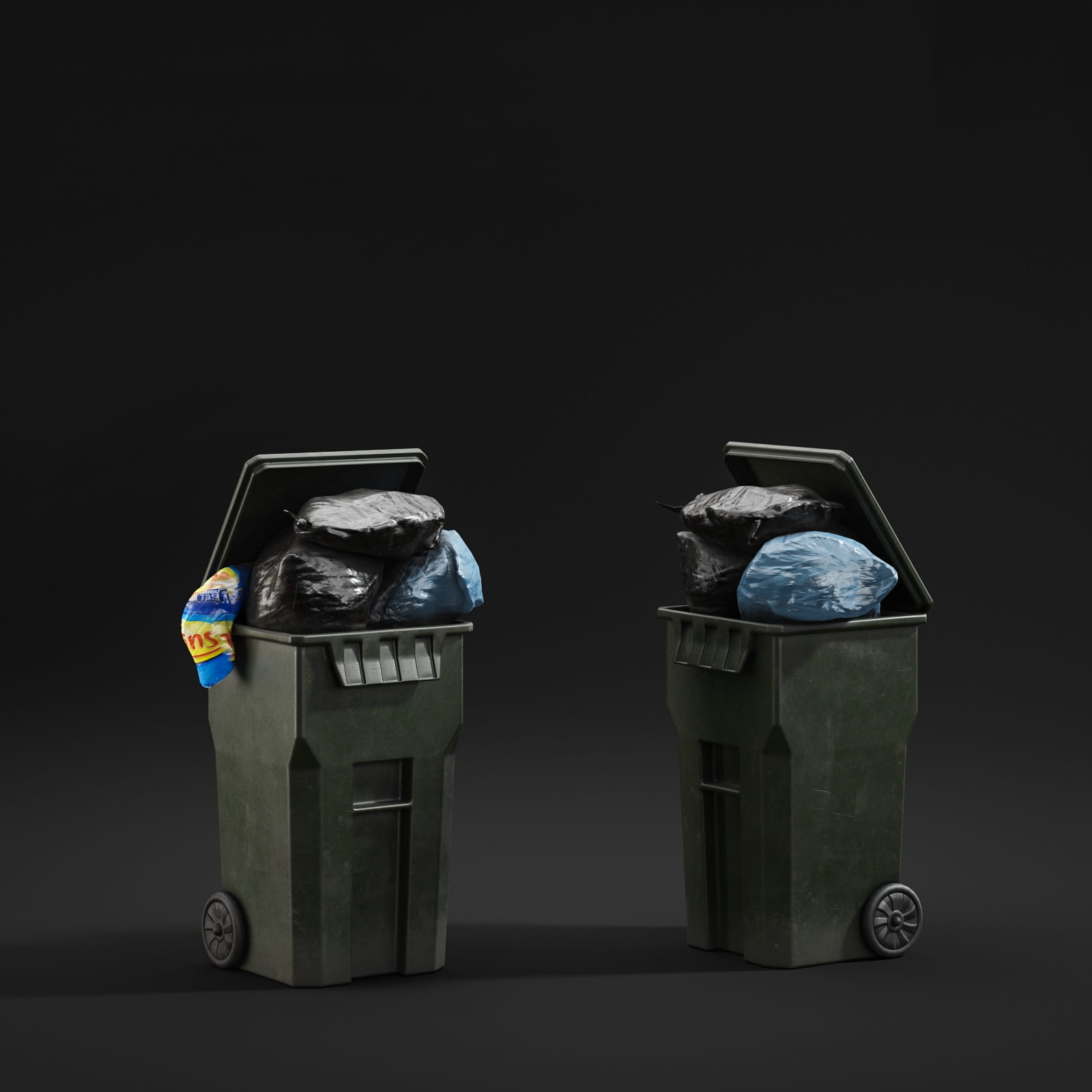trash cans 46 AM211 Archmodels