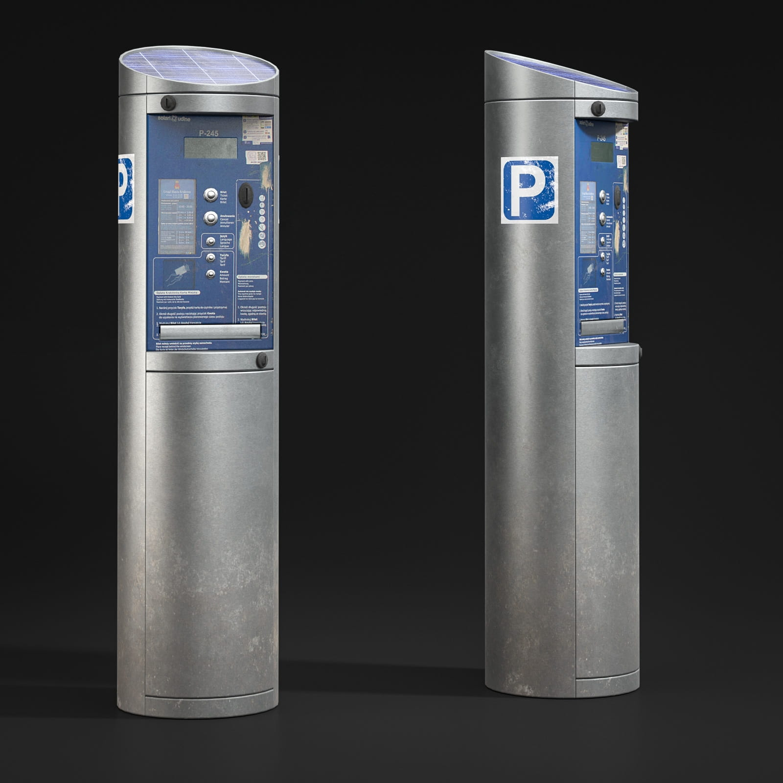 parking meters 52 AM211 Archmodels
