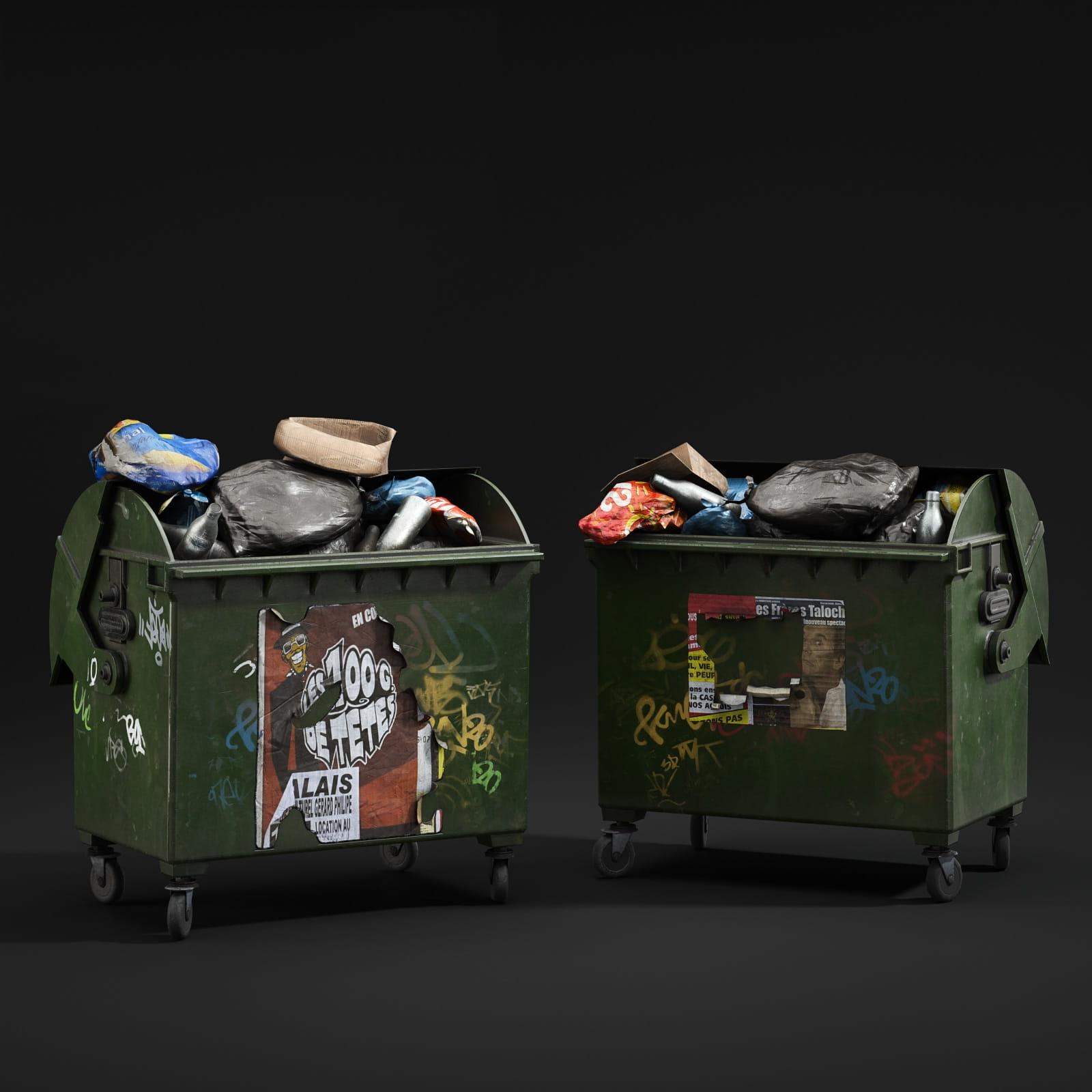 garbage bins 54 AM211 Archmodels