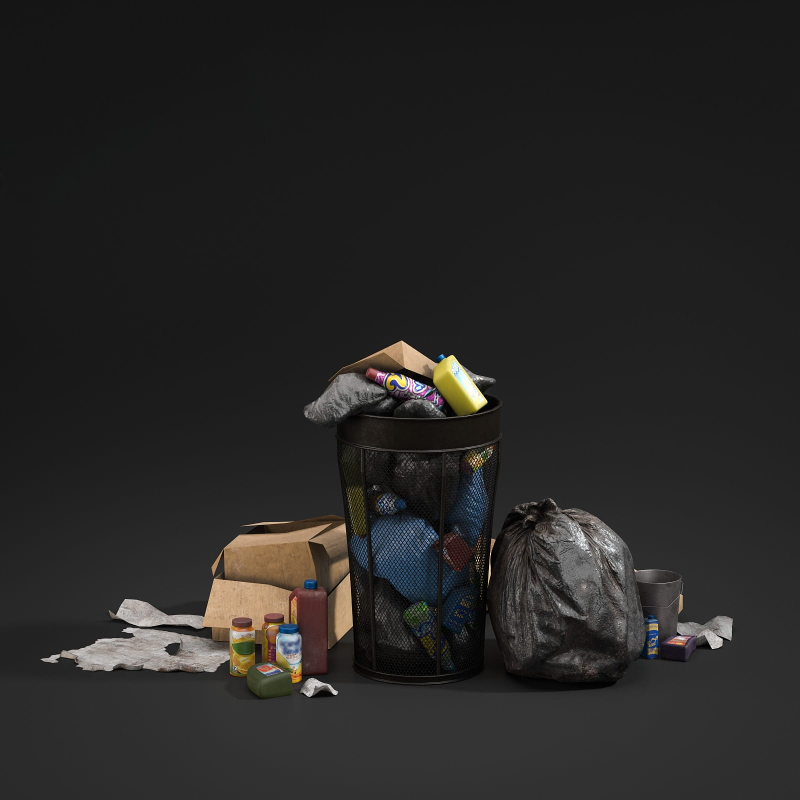 trash can 60 AM211 Archmodels