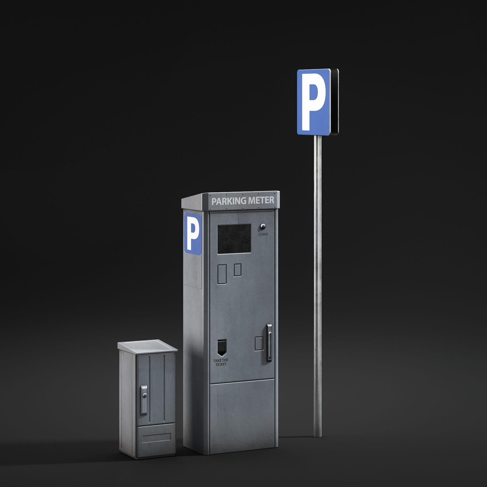 parking meter 61 AM211 Archmodels