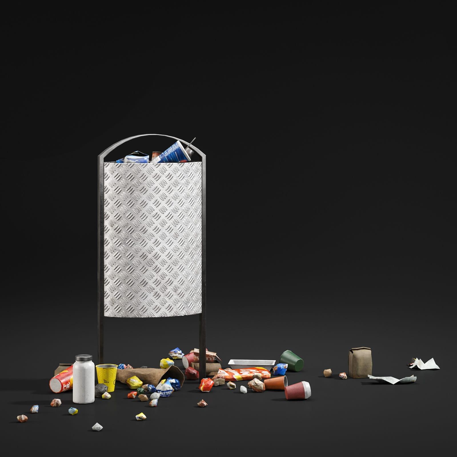 trash can 66 AM211 Archmodels