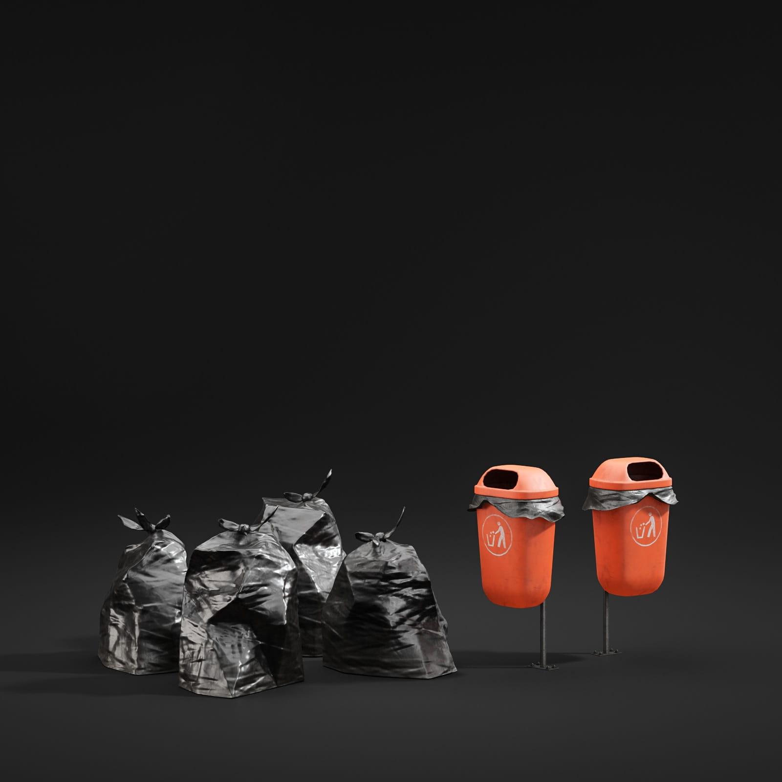 trash cans 71 AM211 Archmodels