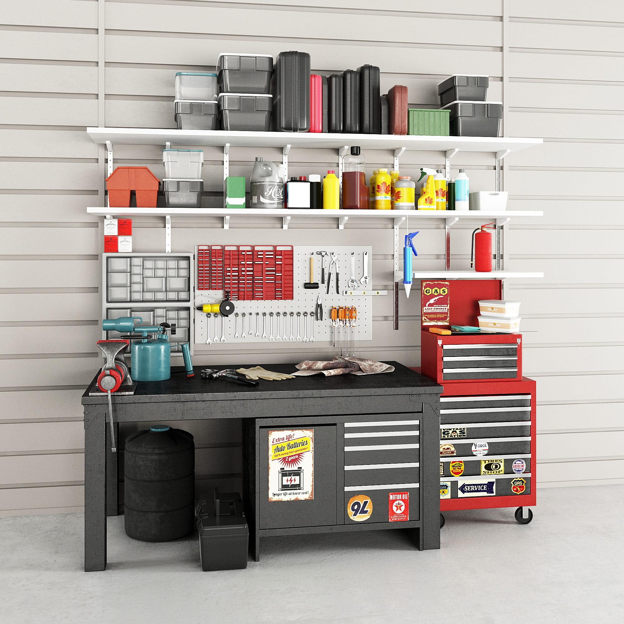 garage equipment 6 AM222 Archmodels