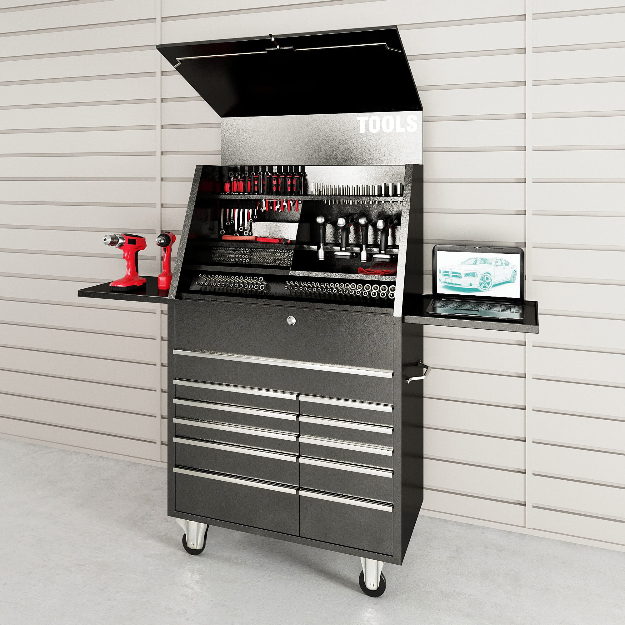 garage equipment 19 AM222 Archmodels