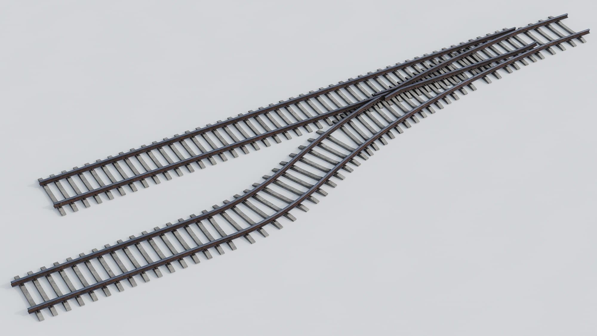 railway tracks 22 AM223 Archmodels