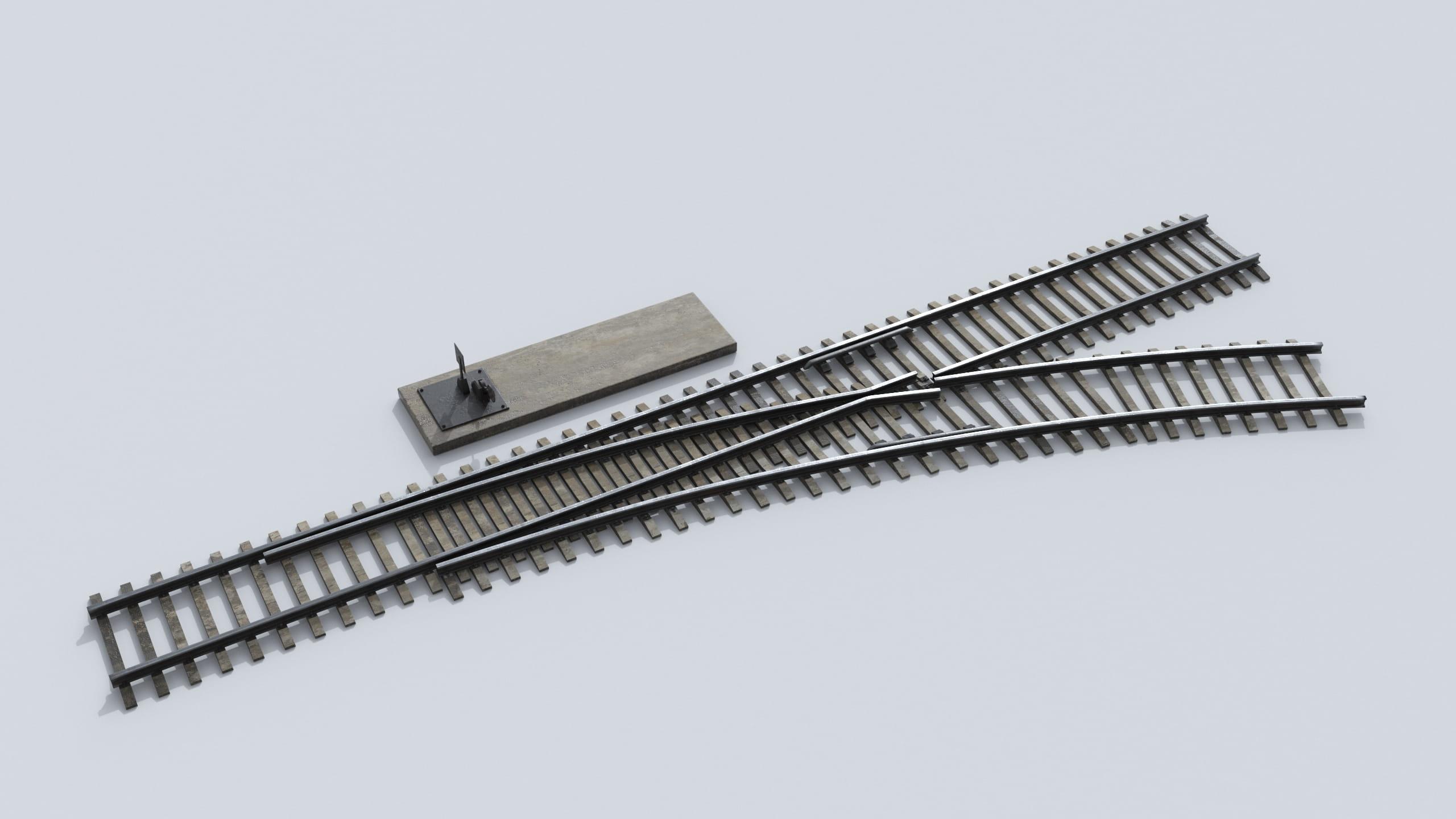 railway tracks 24 AM223 Archmodels