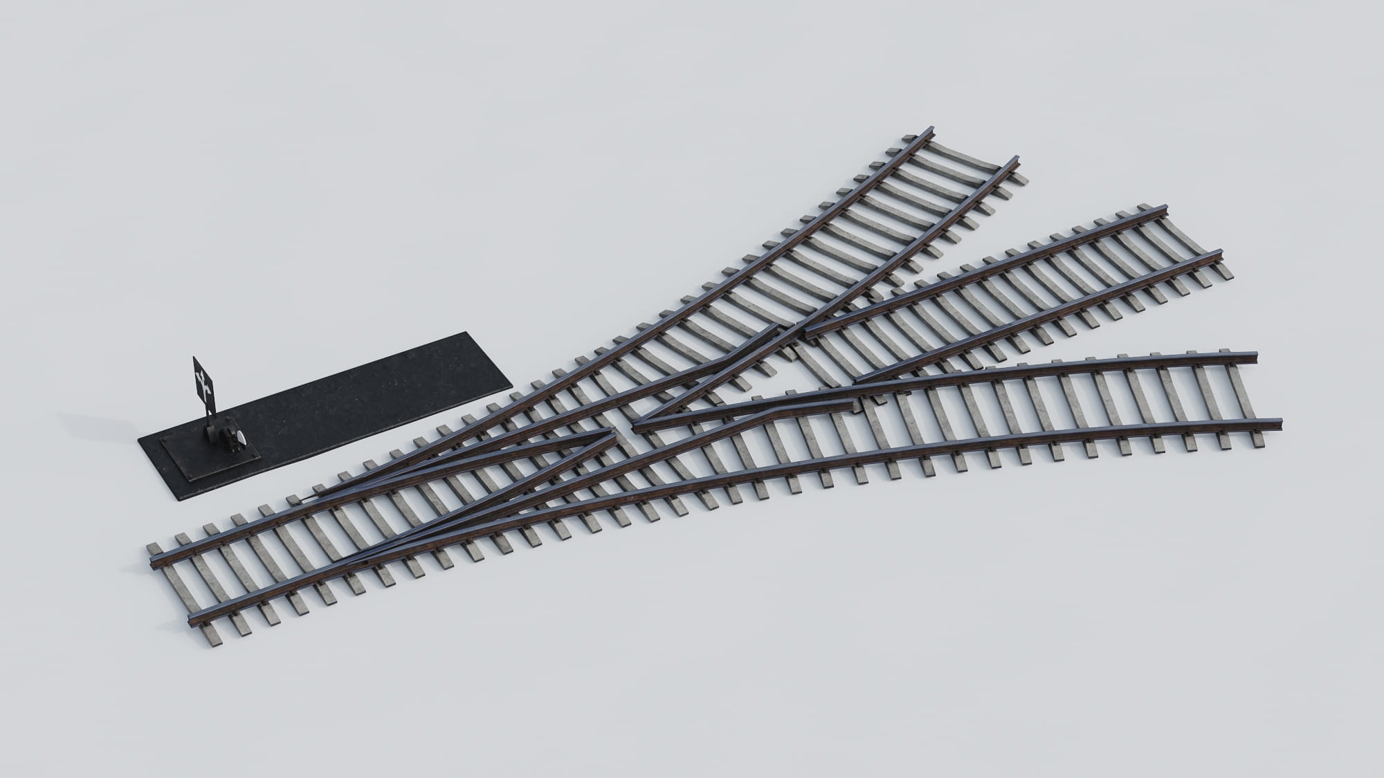 railway tracks 28 AM223 Archmodels