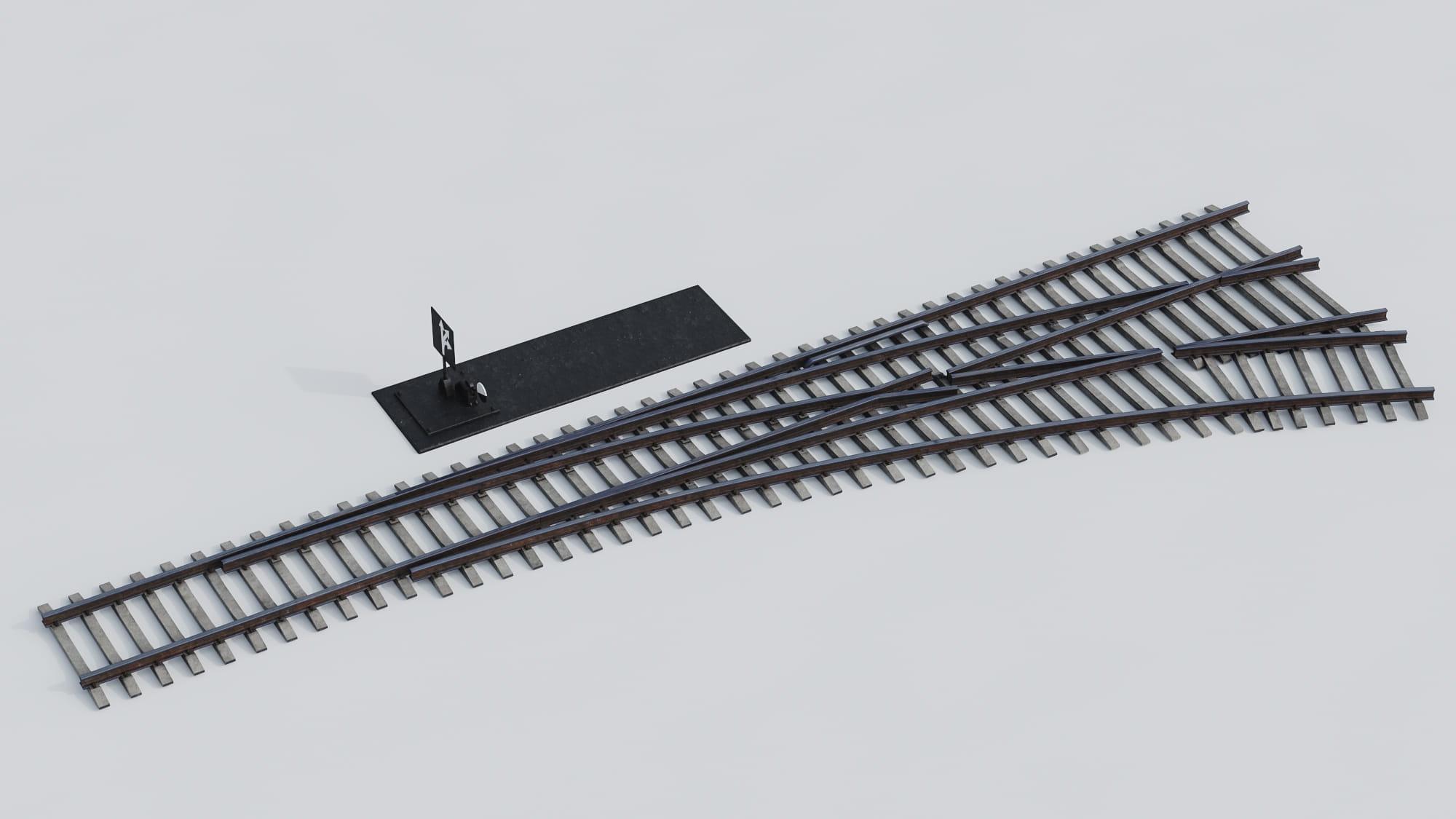 railway tracks 30 AM223 Archmodels