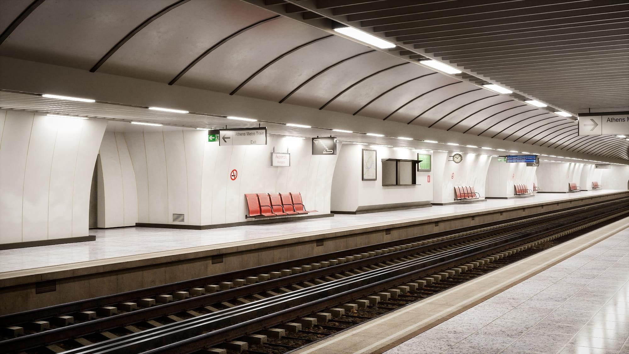 railway station 31 AM223 Archmodels