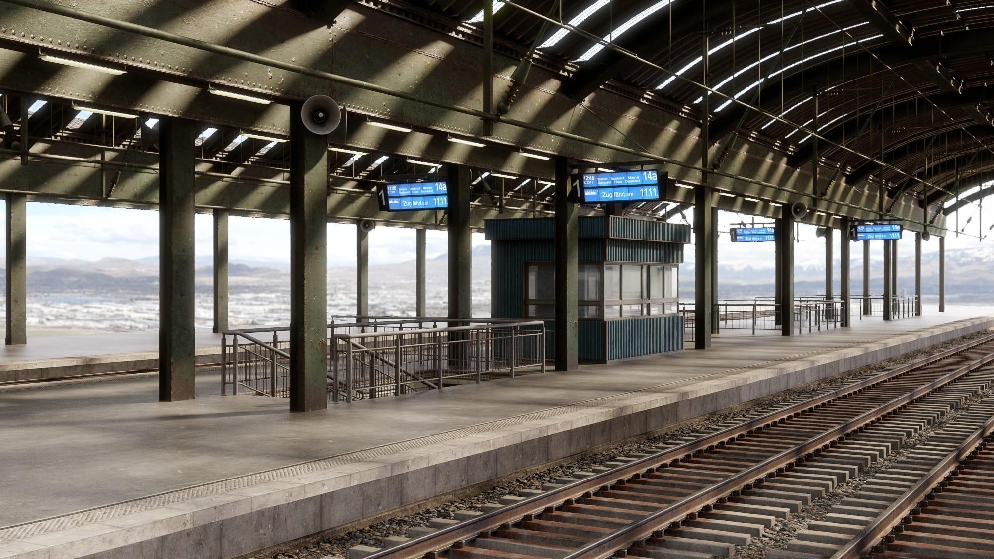 railway station 34 AM223 Archmodels