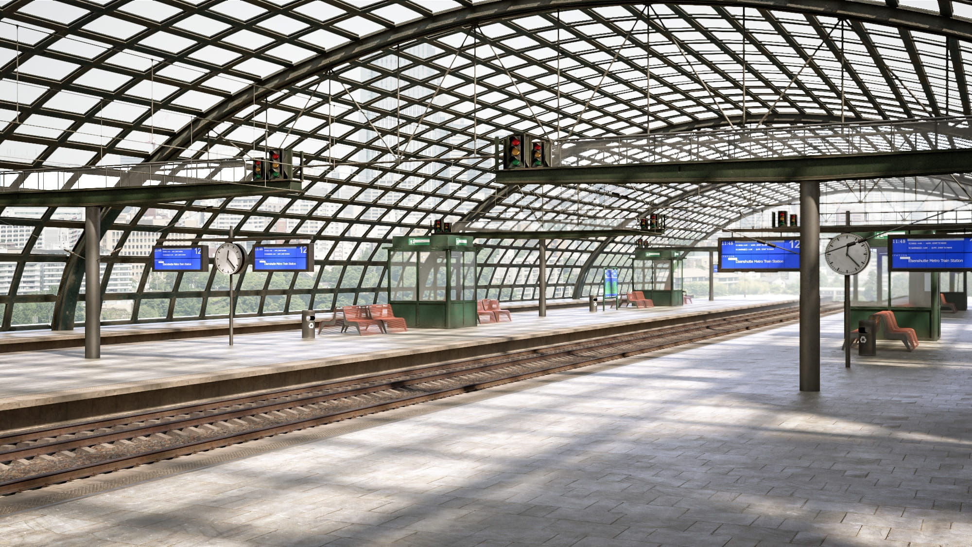 railway station 35 AM223 Archmodels