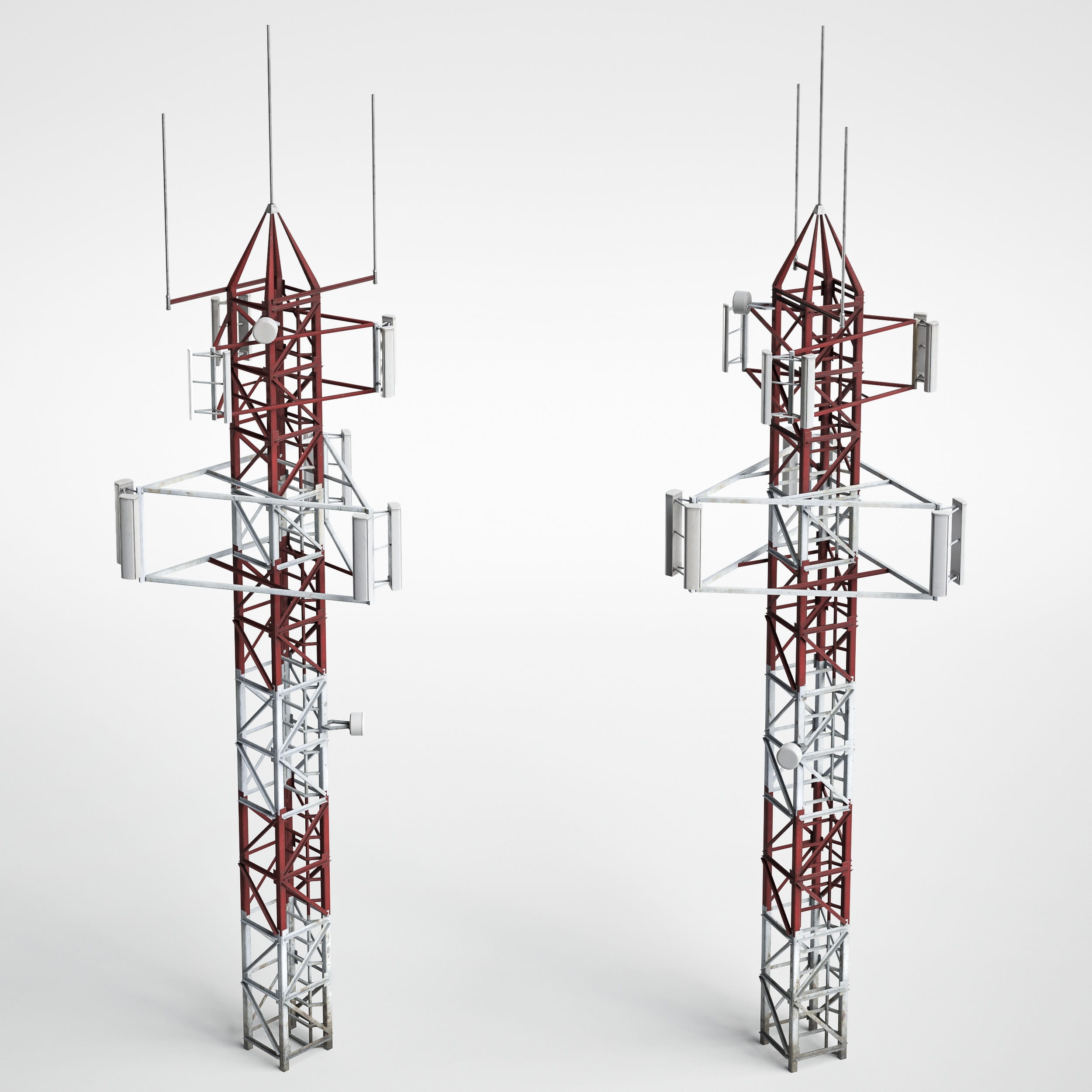antenna towers 7 AM227 Archmodels