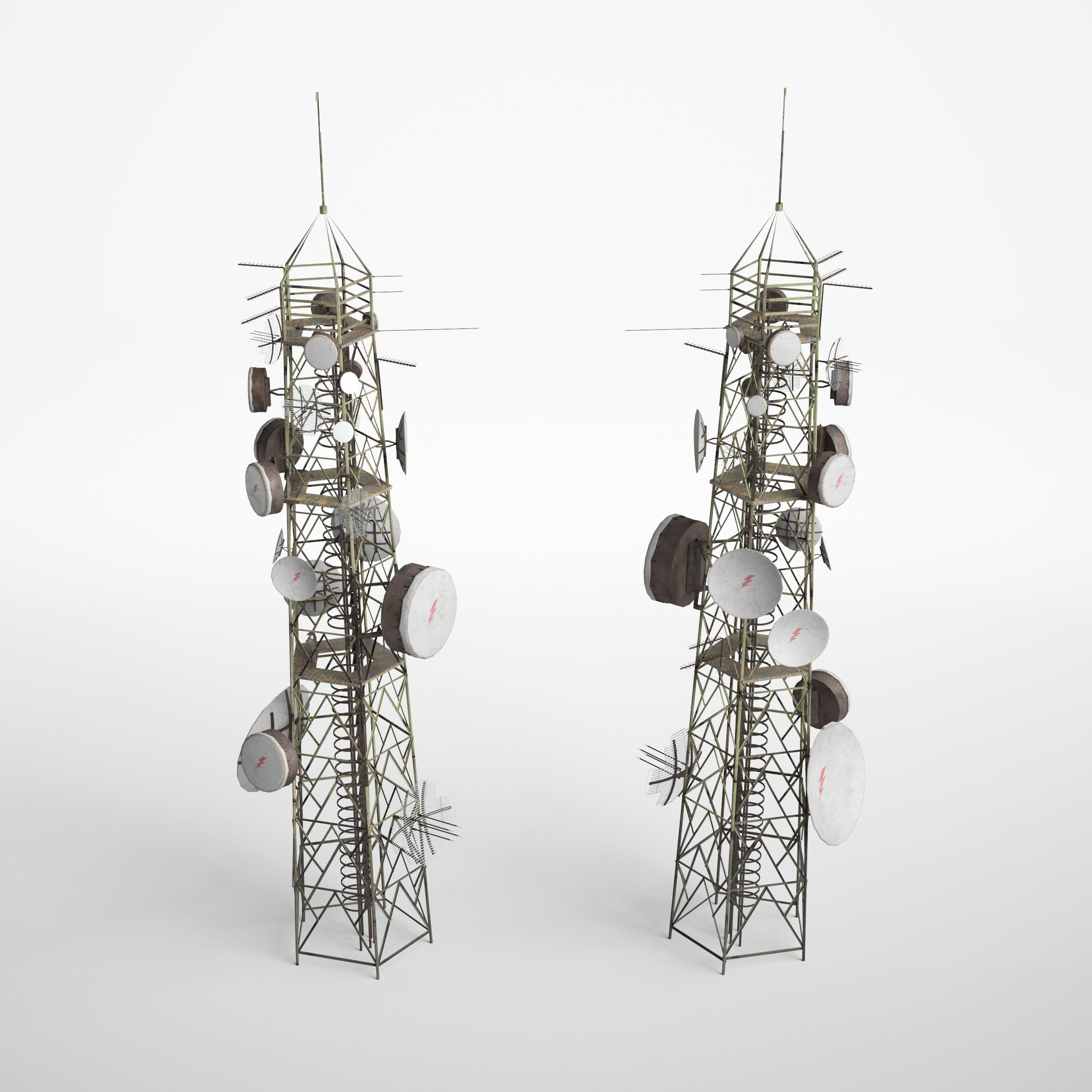 antenna towers 10 AM227 Archmodels