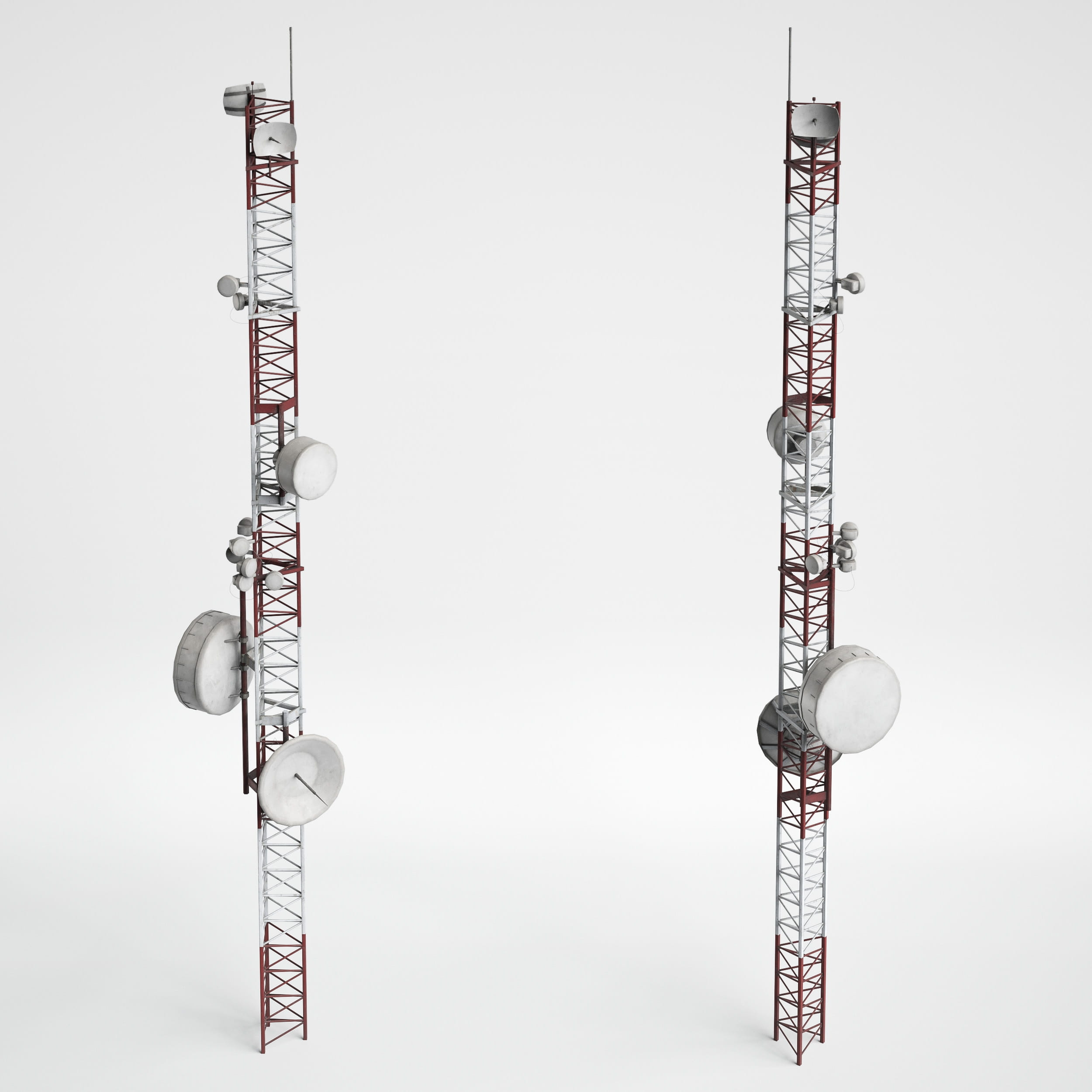 antenna towers 11 AM227 Archmodels