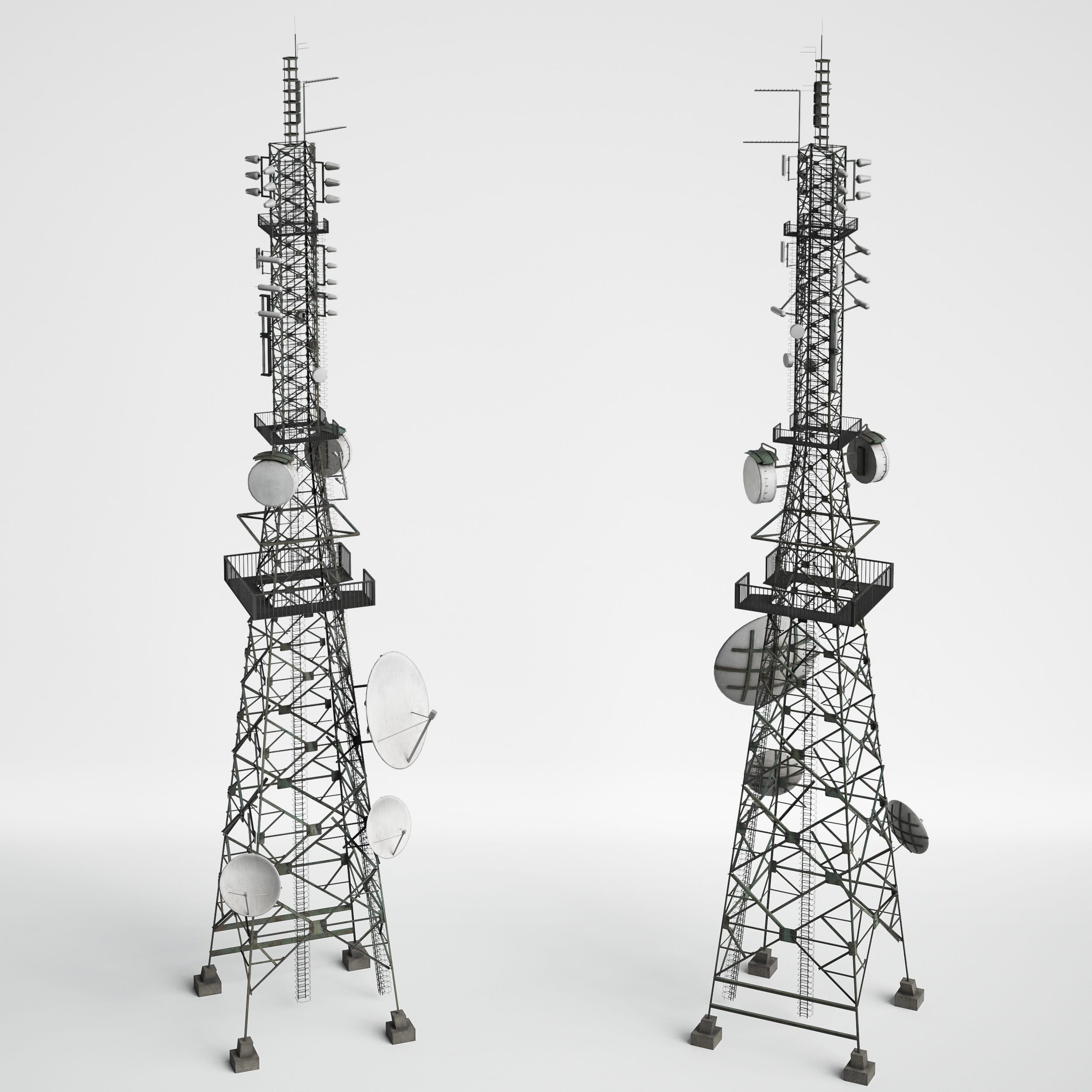 antenna towers 14 AM227 Archmodels