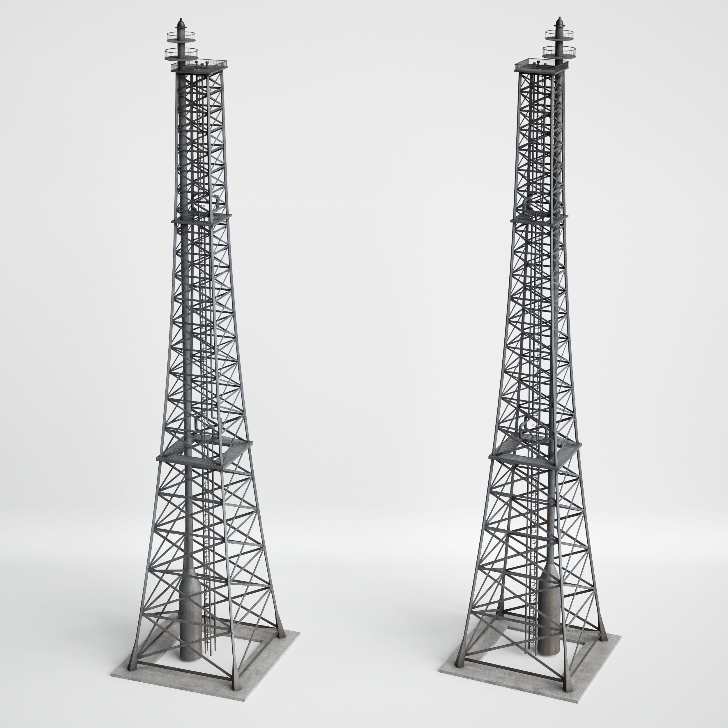 antenna tower 19 AM227 Archmodels
