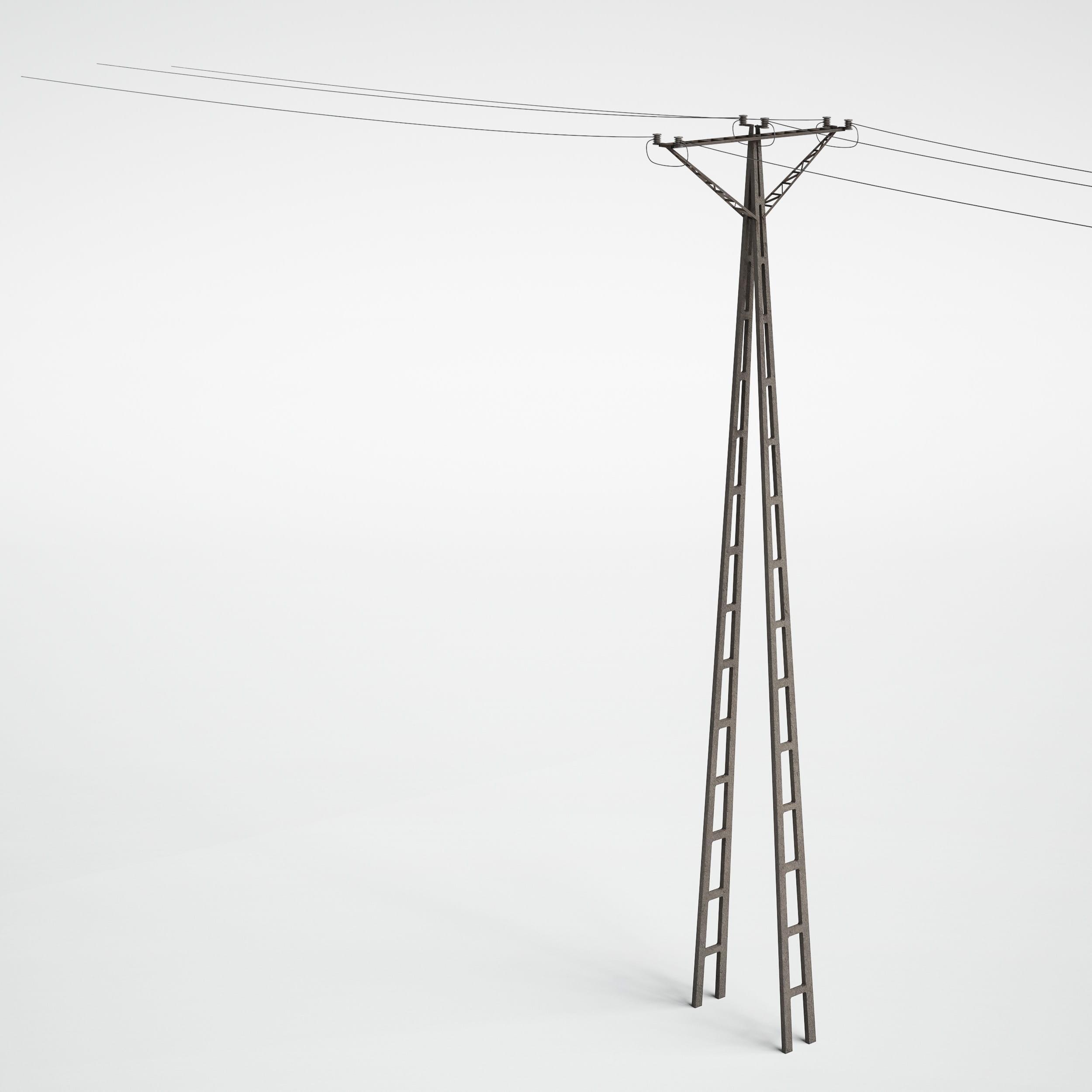 utility pole 27 AM227 Archmodels