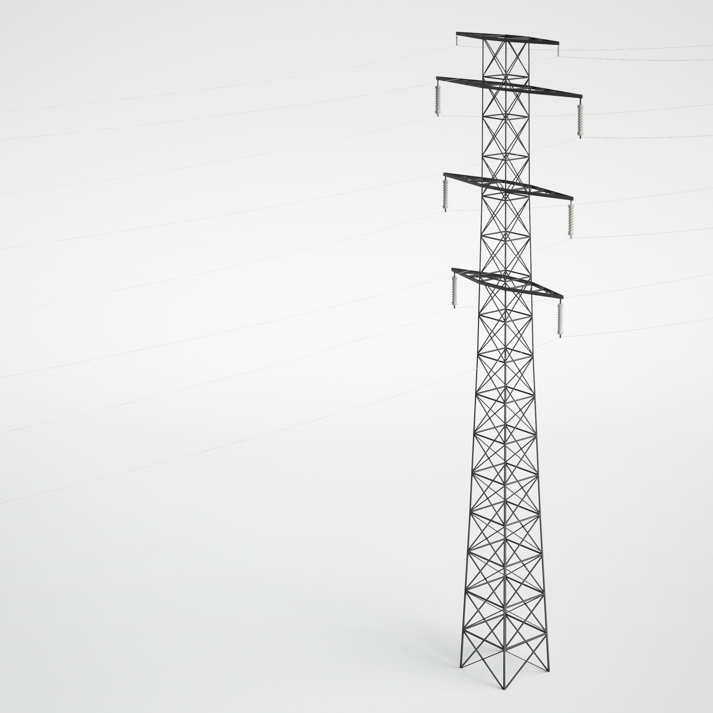 utility pole 28 AM227 Archmodels