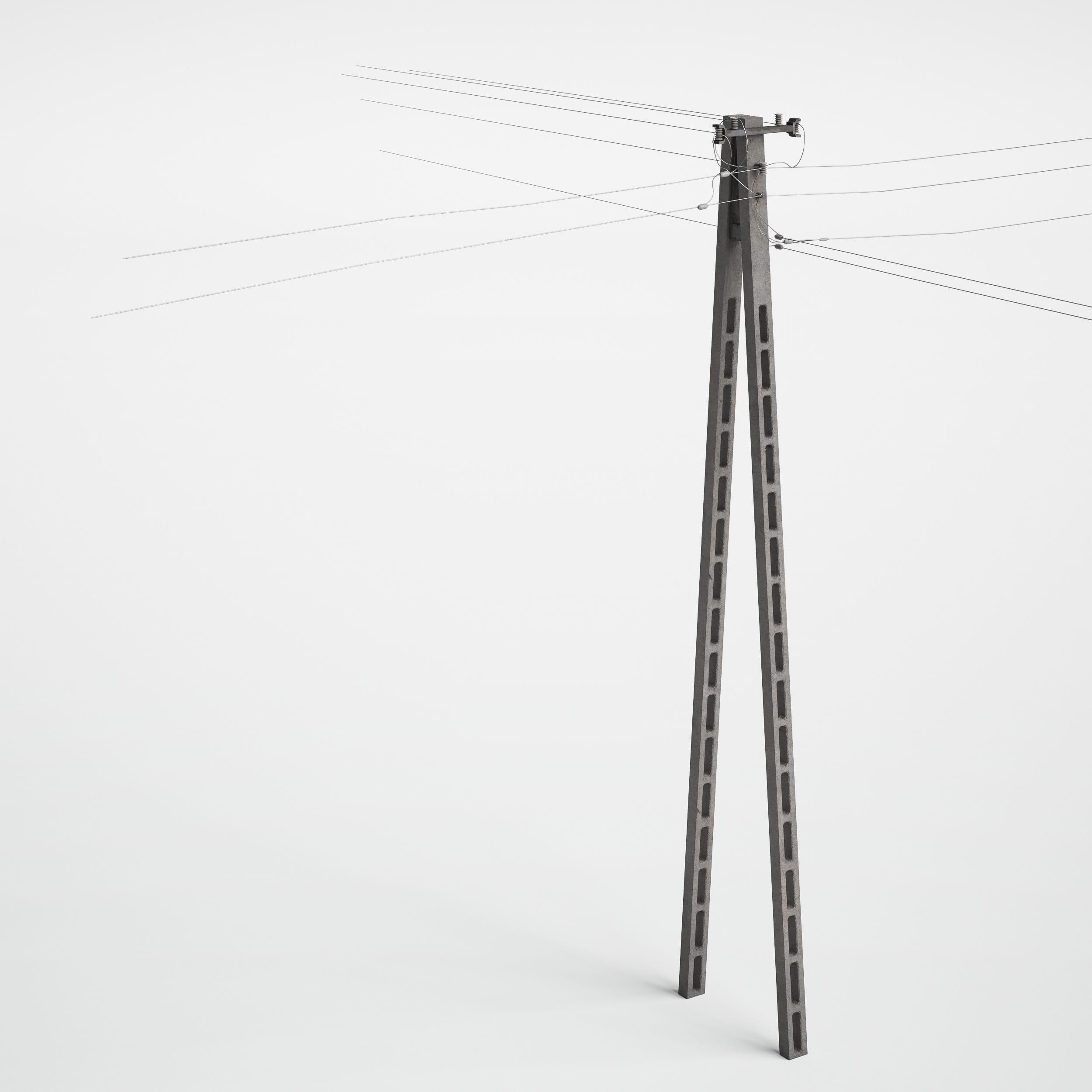 utility pole 29 AM227 Archmodels