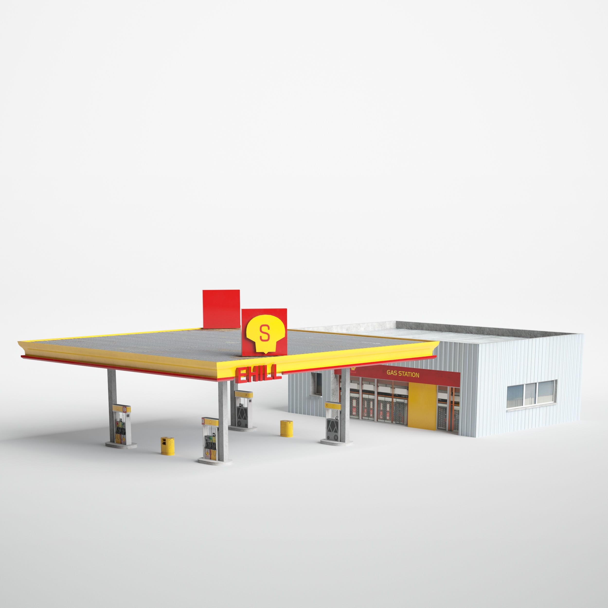 gas station 31 AM227 Archmodels