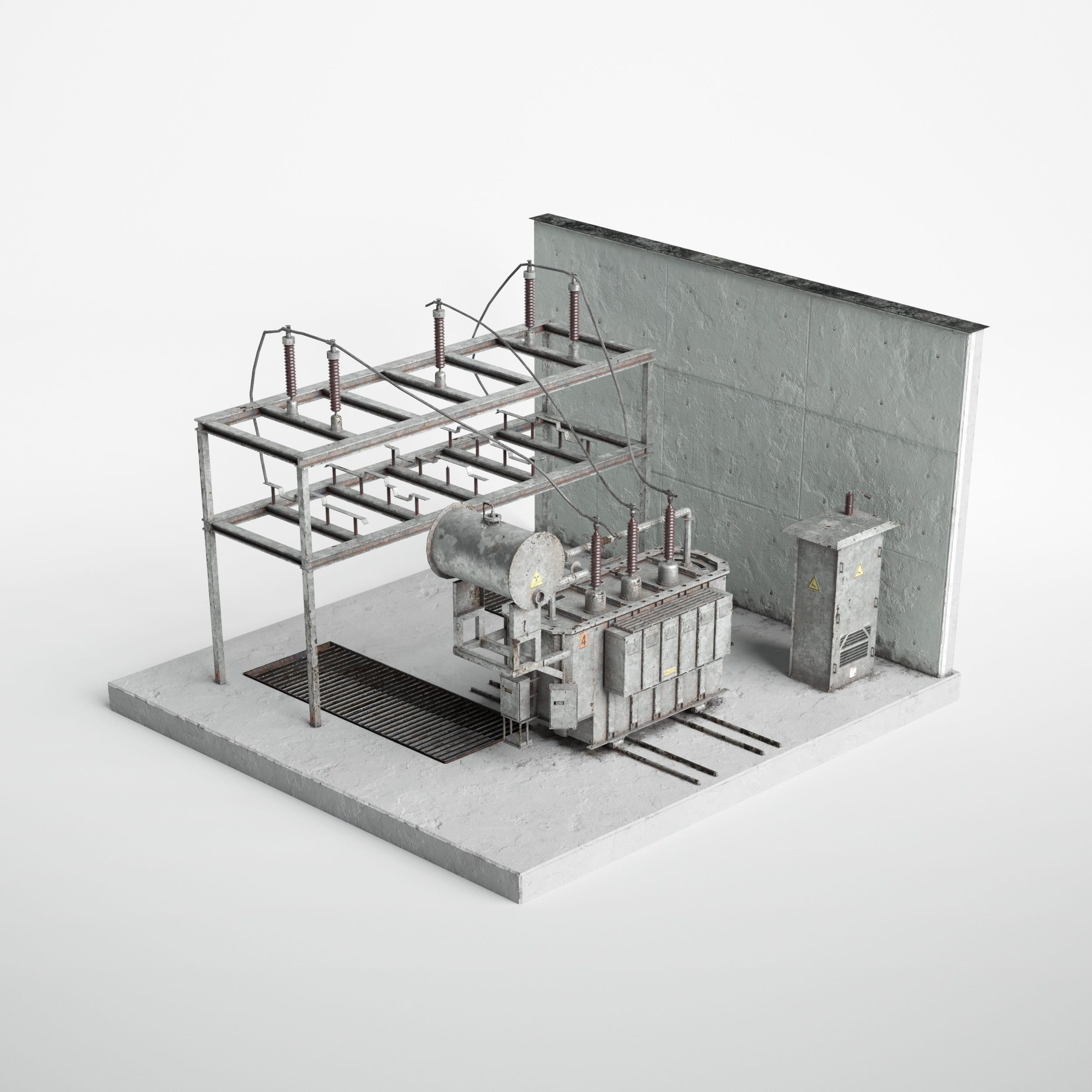 electrical power transformer 36 AM227 Archmodels