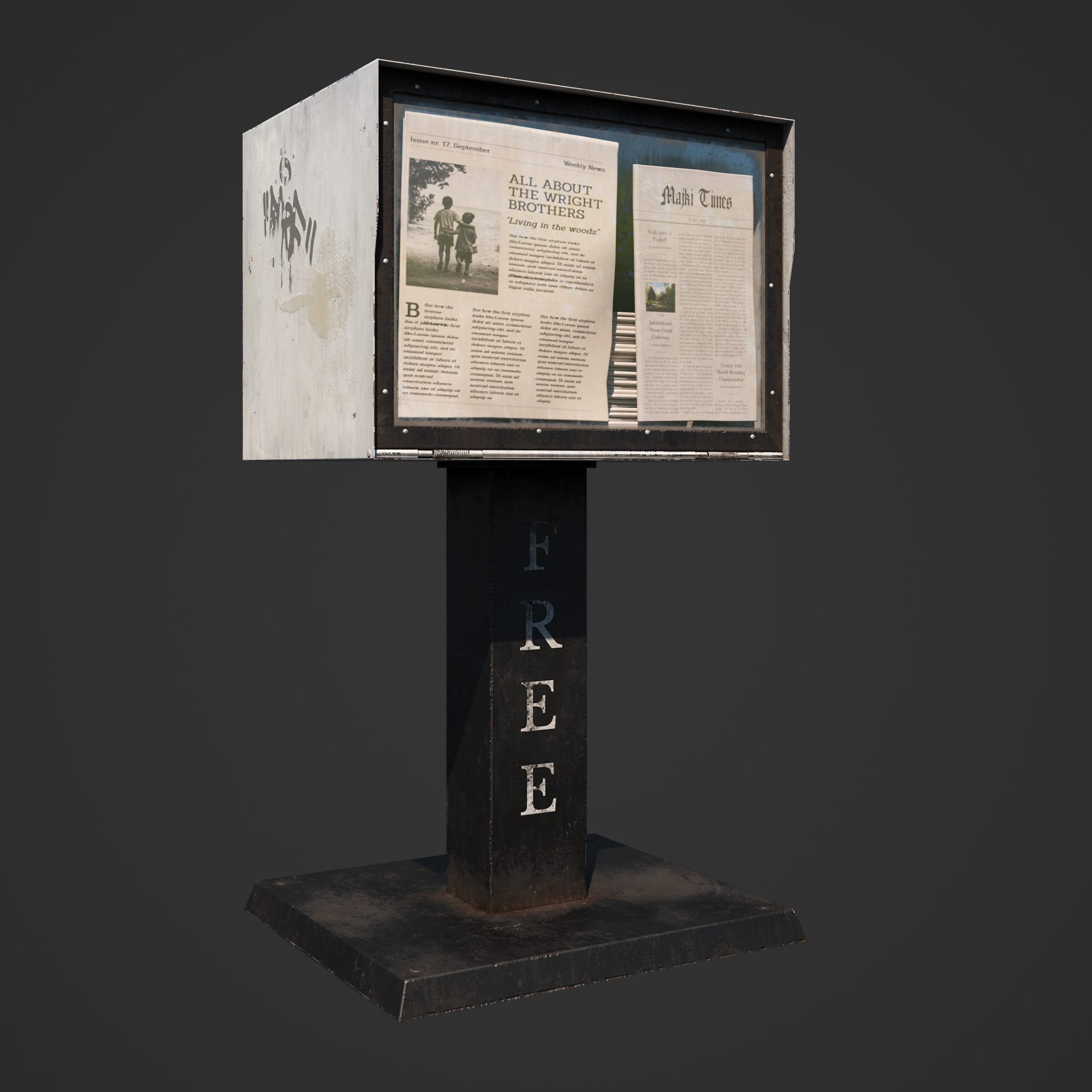 newspaper stand 29 AM246