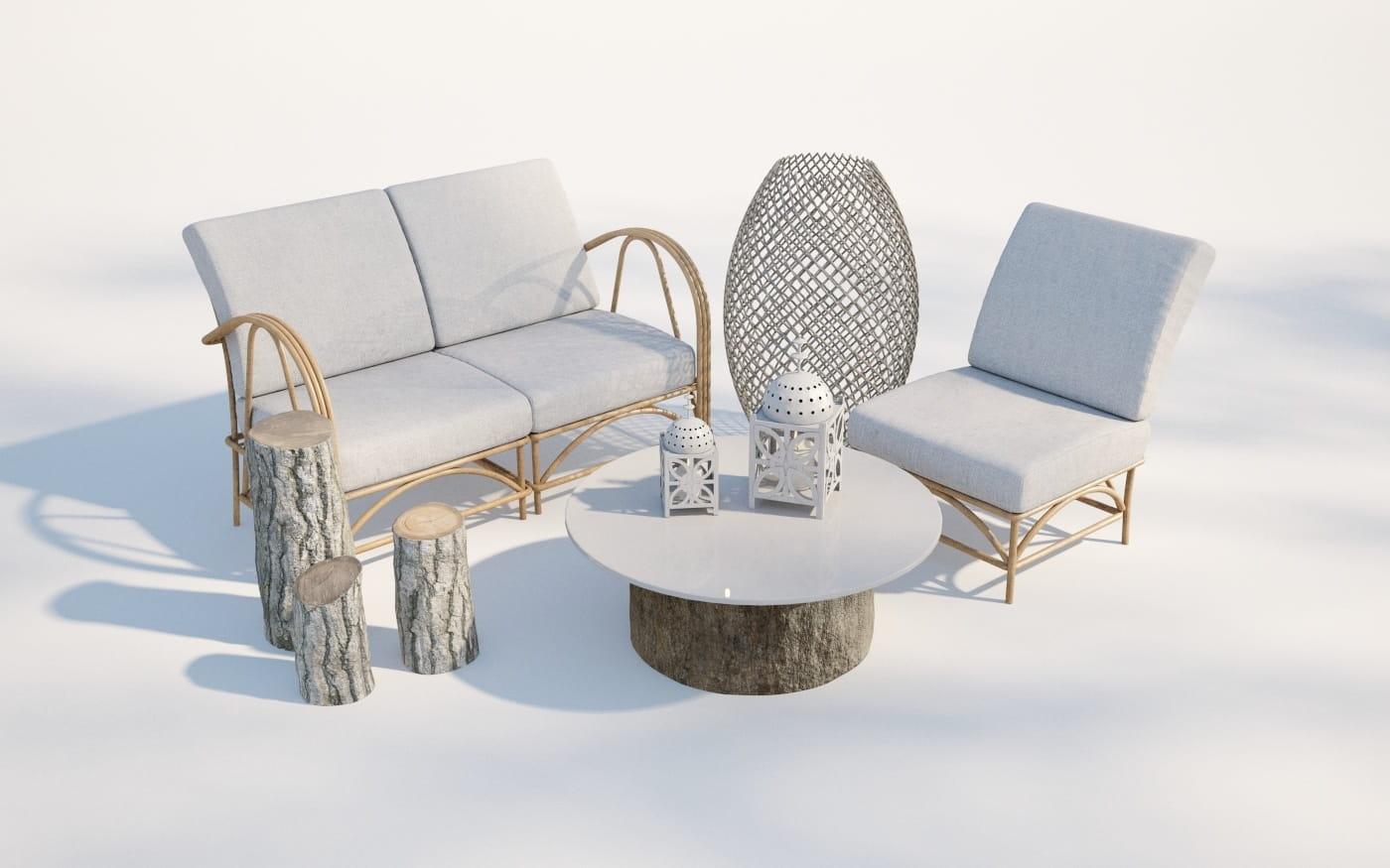 Furniture set 9 AM220 Archmodels