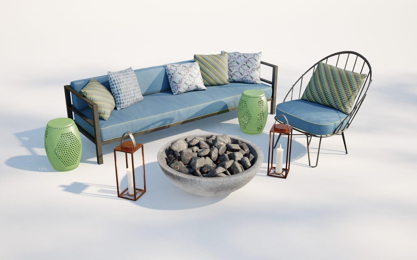 Furniture set 12 AM220 Archmodels
