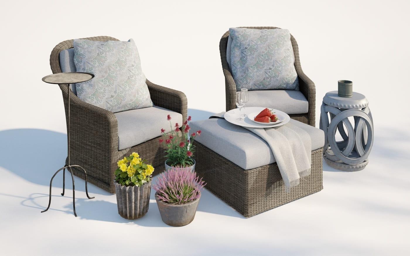 Furniture set 17 AM220 Archmodels