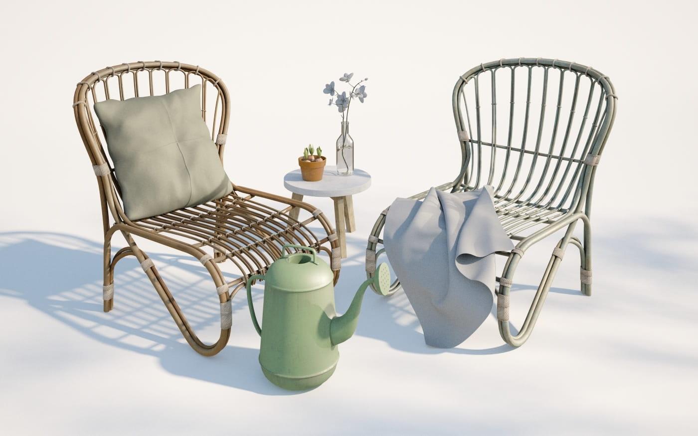 Furniture set 18 AM220 Archmodels