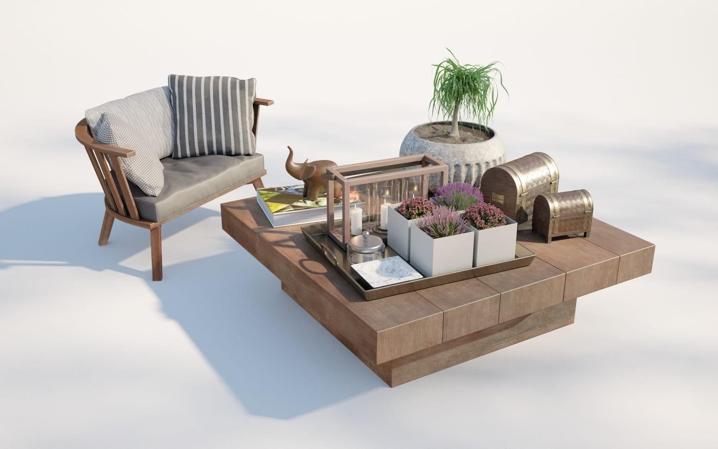 Furniture set 23 AM220 Archmodels