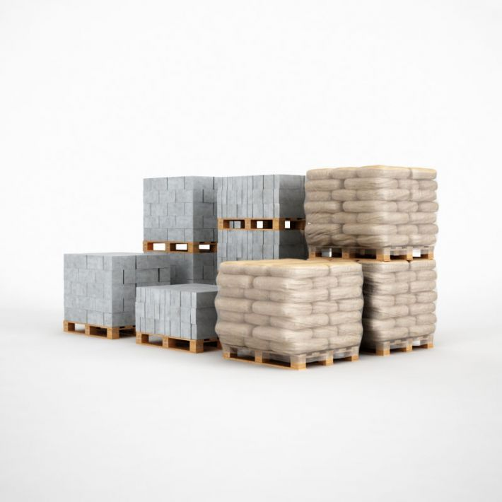 concrete blocks 45 AM115 Archmodels