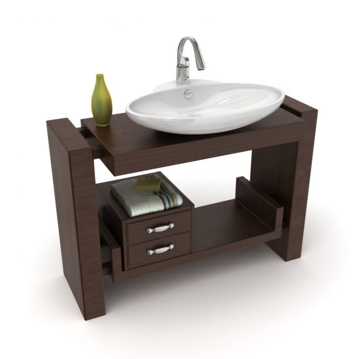 bathroom furniture set 25 AM56 Archmodels