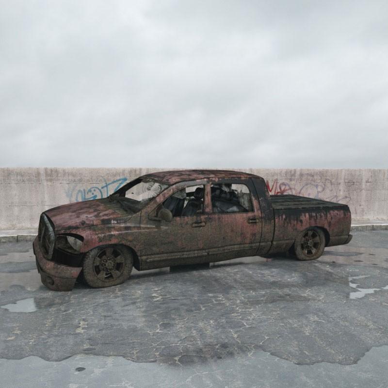 destroyed car 8 AM165 Archmodels