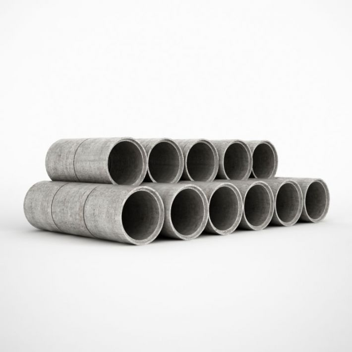 concrete pipes 38 AM115 Archmodels