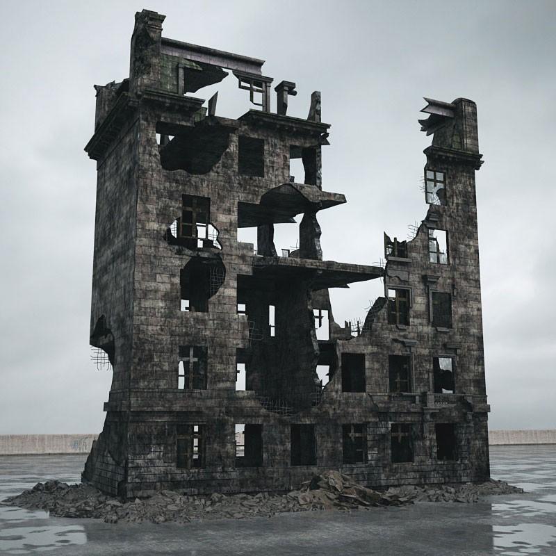 destroyed building 090 am165