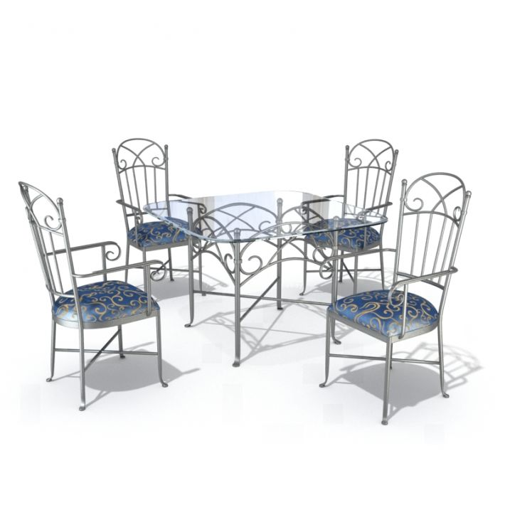 table & chair set 42 AM54 Archmodels