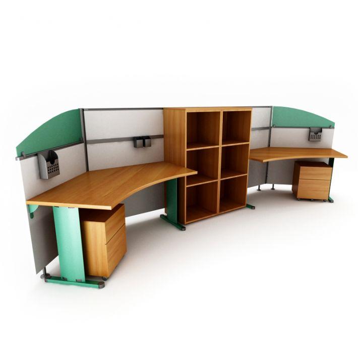 office desk 64 AM53 Archmodels