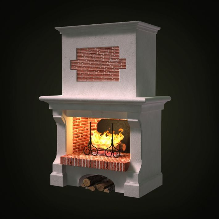 fireplace 54 AM97 Archmodels
