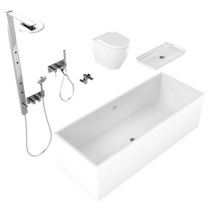 bathroom fixtures 5 AM127 Archmodels