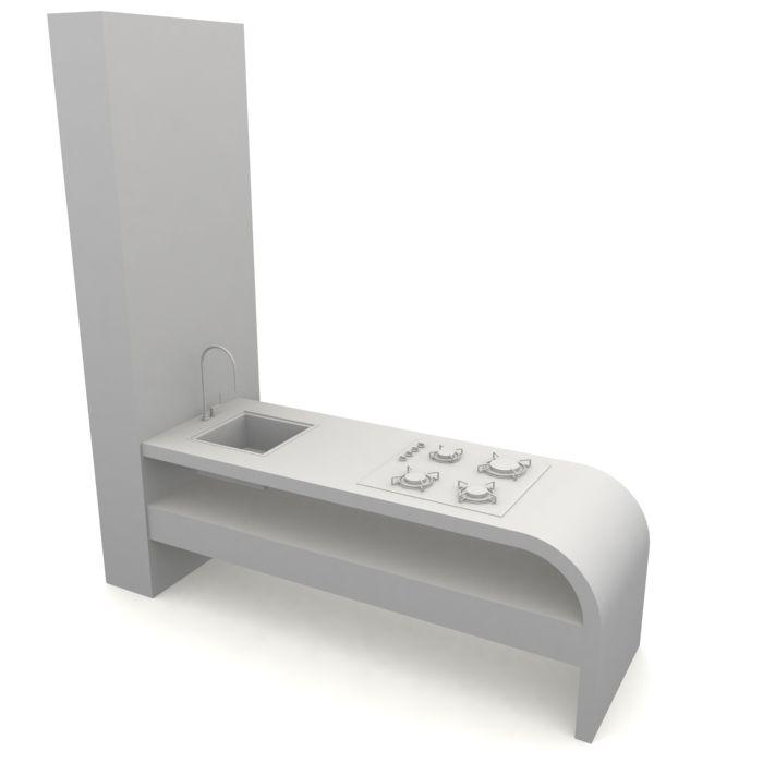 kitchen furniture 130 AM10 Archmodels